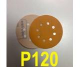 Абразивный круг SMIRDEX Р120 PowerLine 820 (d-125мм, 8 отверстий)