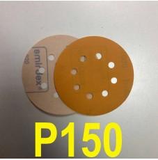 Абразивный круг SMIRDEX Р150 PowerLine 820 (d-125мм, 8 отверстий)