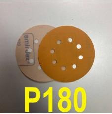 Абразивный круг SMIRDEX Р180 PowerLine 820 (d-125мм, 8 отверстий)