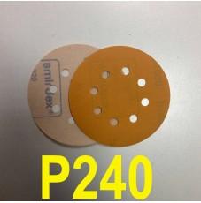 Абразивный круг SMIRDEX Р240 PowerLine 820 (d-125мм, 8 отверстий)