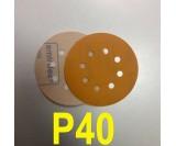 Абразивный круг SMIRDEX Р40 PowerLine 820 (d-125мм, 8 отверстий)
