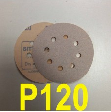 Абразивный круг SMIRDEX Р120 White 510 (d-125мм, 8 отверстий)