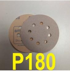 Абразивный круг SMIRDEX Р180 White 510 (d-125мм, 8 отверстий)