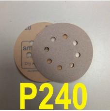 Абразивный круг SMIRDEX Р240 White 510 (d-125мм, 8 отверстий)