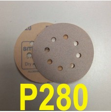 Абразивный круг SMIRDEX Р280 White 510 (d-125мм, 8 отверстий)