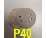 Абразивный круг SMIRDEX Р40 White 510 (d-125мм, 8 отверстий)