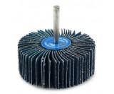 Круг лепестковый со шпинделем 80x30x6 цирконий голубой