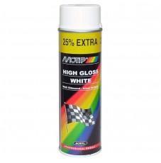 Краска универсальная Motip белая глянцевая (500мл)