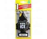 Ароматизатор подвесной Car-Freshner елочка (Черный лед)