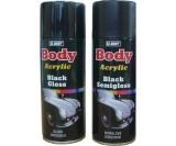Аэрозольная акриловая краска HB-Body чёрная матовая