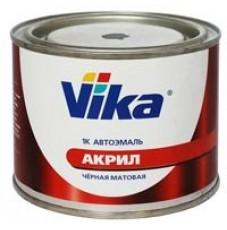 Автоэмаль Vika 1К акриловая черная матовая (0,4кг)