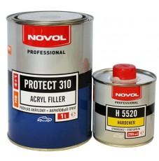 Грунт Novol 4+1 Protect HS 310 черный (1л+0.25л)
