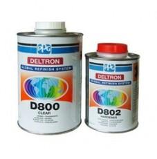 Комплект Акриловый лак PPG D800 Deltron (1 литр) + Отвердитель D802 (0,5 литра)