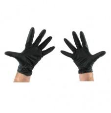Перчатки нитриловые AB черные Магнум без талька (размер XL)
