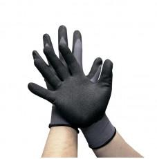 Перчатки AB для механических работ с пенным покрытием пурпурные (размер L)