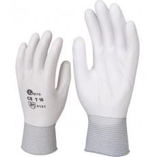 Перчатки AB для механических работ с PU покрытием белые (размер L)