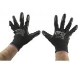 Перчатки AB для механических работ с нитриловым покрытием черные (размер L)