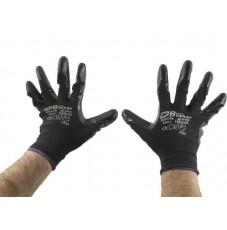 Перчатки AB, для механических работ с нитриловым покрытием черные (размер L)